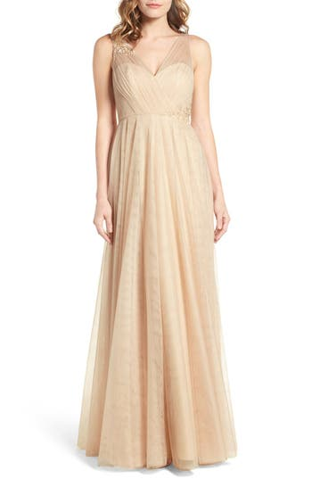 Jenny Yoo Emelie Illusion Gown
