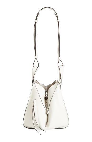 LOEWE SMALL HAMMOCK LEATHER HOBO - WHITE