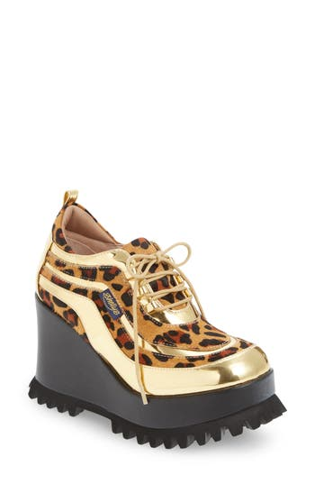 Shellys London Richie Platform Wedge, Metallic