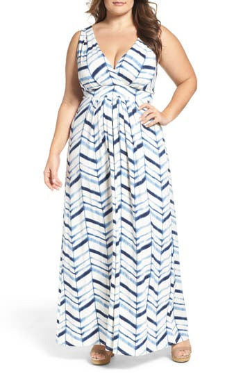 Plus Size Tart Chloe Empire Waist Maxi Dress, White