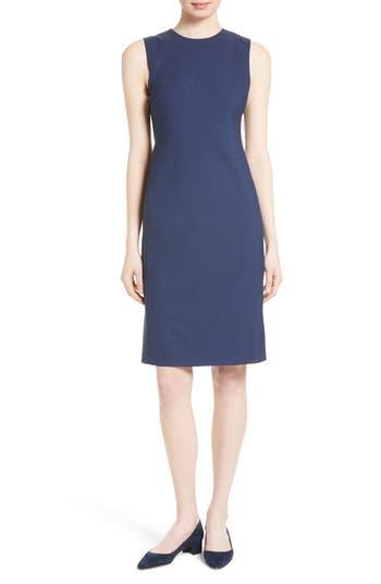 Theory Eano Stretch Wool Sheath Dress, Blue