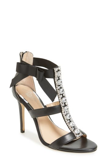 Jewel Badgley Mischka Henderson Embellished Bow Sandal, Black