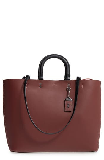 Coach 1941 Rogue Leather Tote - Red