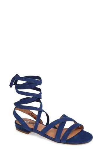 Women's Halogen Frances Ankle Wrap Sandal, Size 5 M - Blue