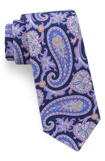 Men's Ted Baker London Hoxton Paisley Silk Tie, Size Regular - Blue