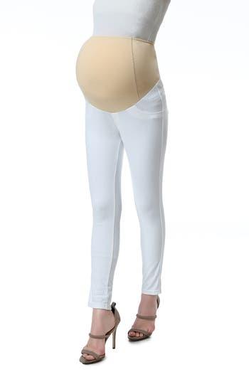Kimi & Kai Lenora Maternity Leggings, White