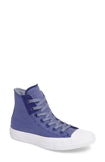 Women's Converse Chuck Taylor All Star Ii Basket Weave High Top Sneaker, Size 7.5 M - Blue