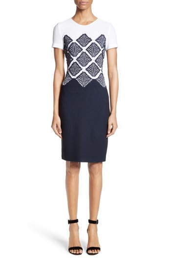 St. John Collection Ahem Knit Fil Coupe Dress
