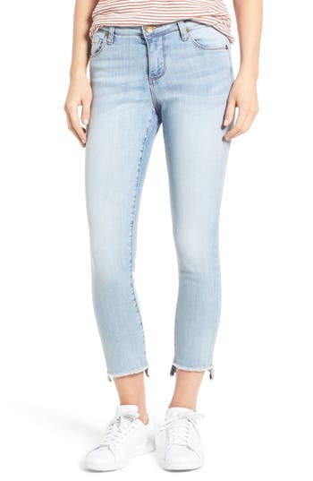 Kut From The Kloth Reese Uneven Hem Straight Ankle Jeans