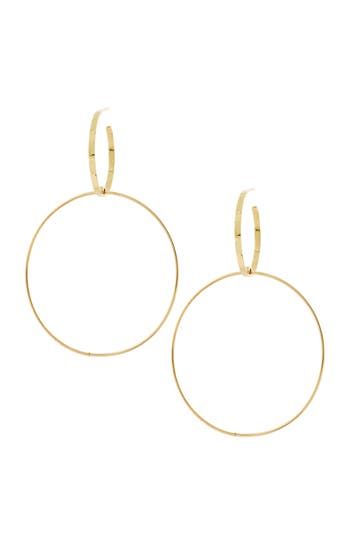 Women's Lana Jewelry Double Bond Hoop Earrings