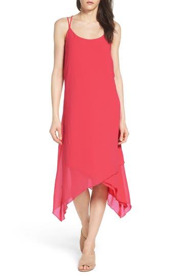 Nsr Chiffon Midi Dress, Red