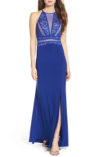 Morgan & Co. Embellished Gown, /6 - Blue