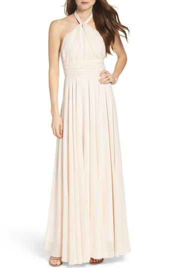 Lulus Chiffon Halter Gown, Pink