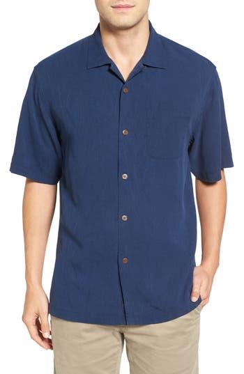 Men's Big & Tall Tommy Bahama Islander Fronds Silk Camp Shirt, Size 2XB - Green