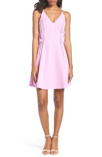 Adelyn Rae Fit & Flare Dress, Purple