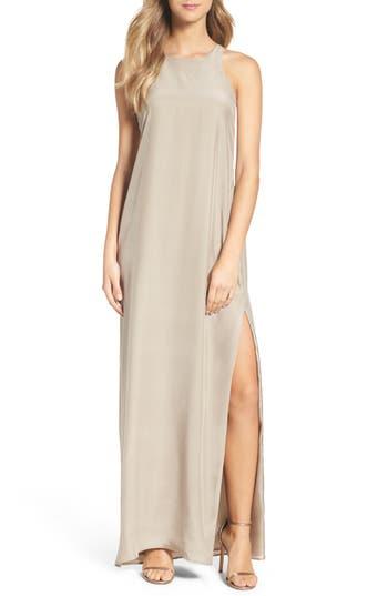 Natalie Deayala Silk Column Gown