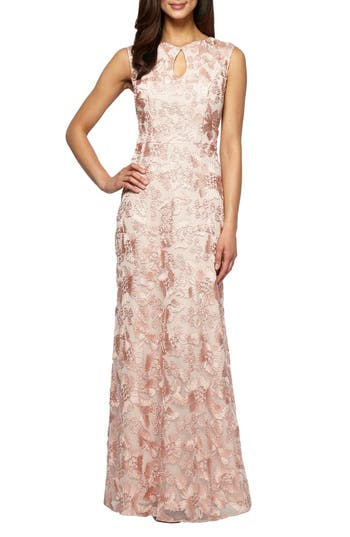 Alex Evenings Mesh Gown