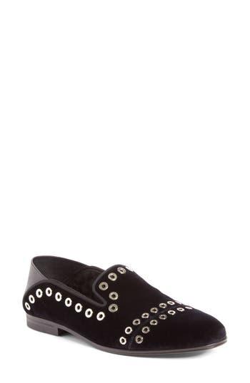 Alexander Mcqueen Grommet Convertible Loafer, Black