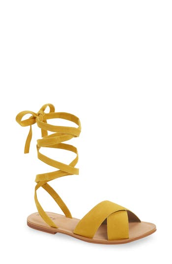 Women's Hinge Olivia Sandal, Size 6.5 M - Yellow