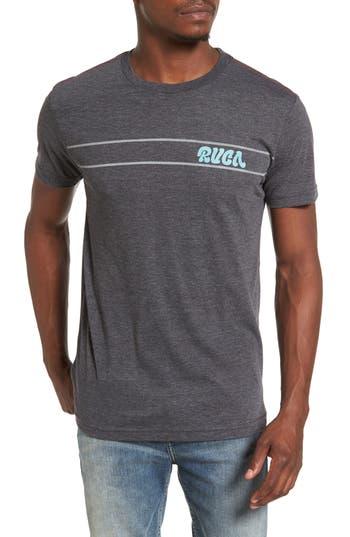 Rvca Script Stripe Graphic T-Shirt