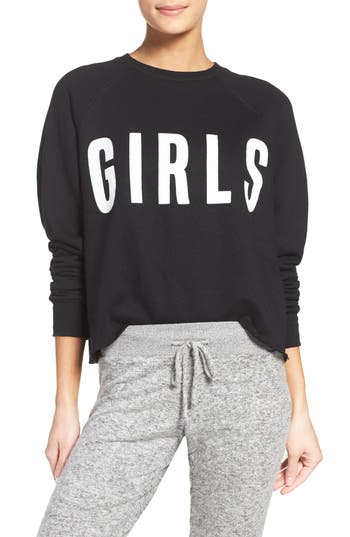 Women's Brunette The Label Girls Crop Lounge Sweatshirt
