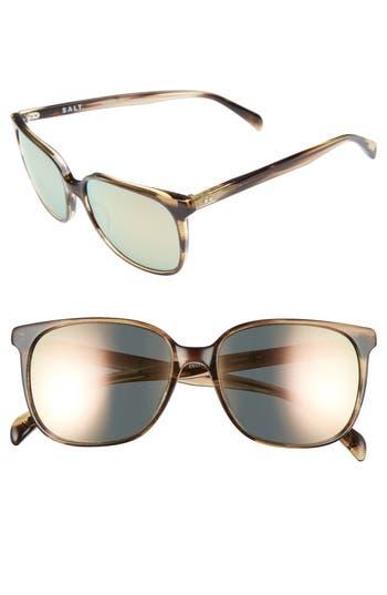 Women's Salt Kintner 55Mm Polarized Cat Eye Sunglasses - Hazy Taupe
