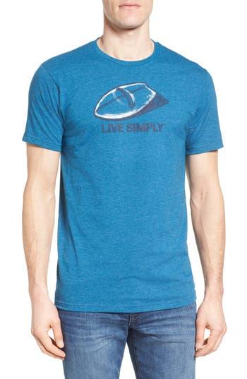 Patagonia Live Simply Handplane Slim Fit T-Shirt, Blue