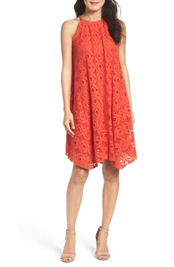 Maggy London Lace Trapeze Dress