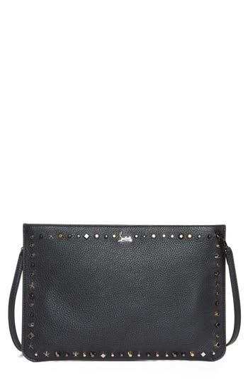 Christian Louboutin Loubiclutch Spiked Leather Clutch - Black at NORDSTROM.com