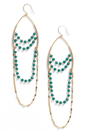 Women's Serefina Beaded Chandelier Drop Earrings
