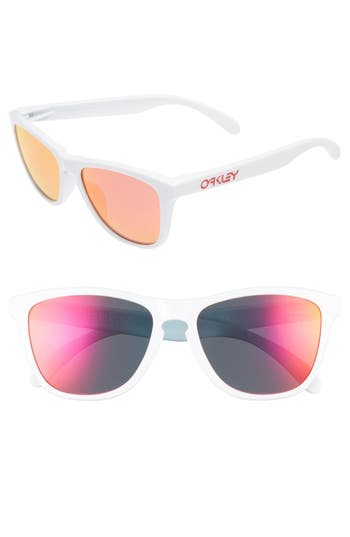 Oakley Frogskins 5m Sunglasses - Polished White/ Ruby Iridium