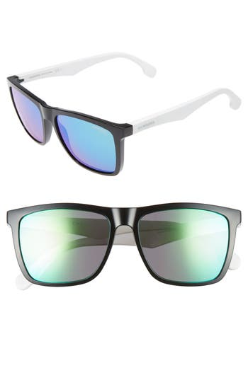 Carrera Eyewear 5m Sunglasses - Black White/ Green