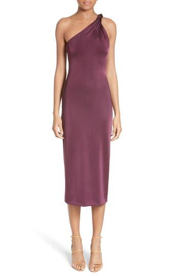 Cushnie Et Ochs Twisted Jersey One-Shoulder Dress, Purple
