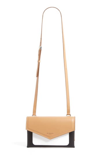 Givenchy Duetto Tricolor Leather Flap Crossbody Bag - Beige at NORDSTROM.com