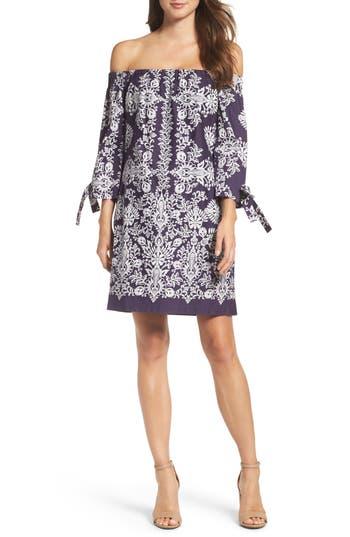 Women's Vince Camuto Print Off The Shoulder Dress