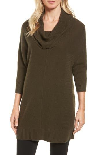 Women's Halogen Cashmere Dolman Sleeve Tunic Sweater