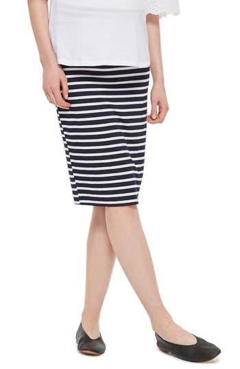 Topshop Stripe Maternity Tube Skirt, US (fits like 0-2) - Blue