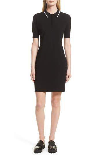Grey Jason Wu Knit Polo Dress, Black