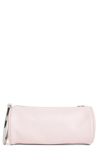 Kara Pebbled Leather Duffel Wristlet Clutch - Pink at NORDSTROM.com
