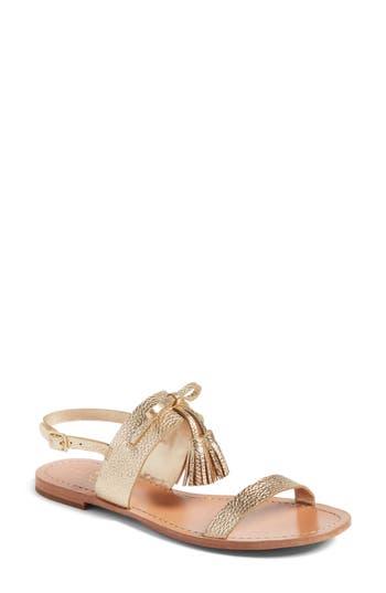 Kate Spade New York Carlita Tassel Sandal, Metallic