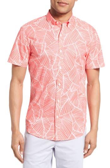 Men's Bonobos Slim Fit Palm Frond Print Short Sleeve Sport Shirt