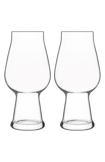 Luigi Bormioli Birrateque Set Of 2 Ipa Glasses, Size One Size - White