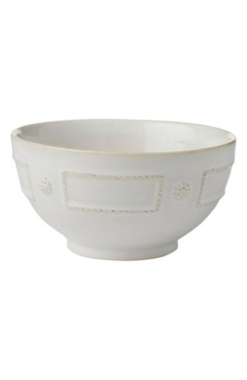 Juliska Berry & Thread French Panel Ceramic Cereal Bowl, Size One Size - White