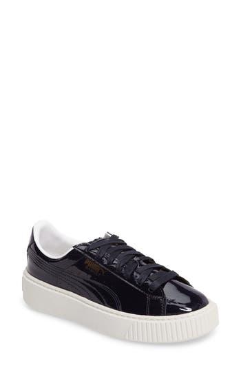 Puma Basket Platform Sneaker, Blue