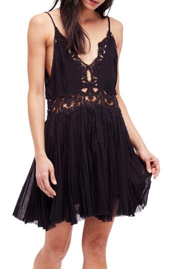 Free People Ilektra Lace Minidress, Black
