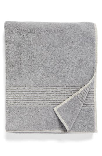 Nordstrom At Home Organic Hydrocotton Heathered Bath Towel, Size One Size - Grey