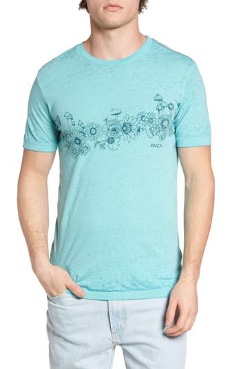 Rvca Sage Stripe Floral Graphic T-Shirt