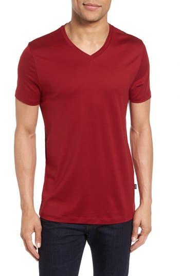 Boss V-Neck T-Shirt, Red