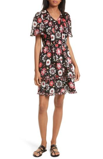 Kate Spade New York Casa Flora A-Line Silk Dress