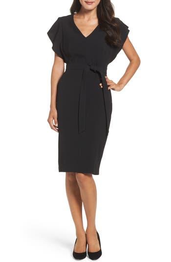 Eliza J Ruffle Sleeve Sheath Dress